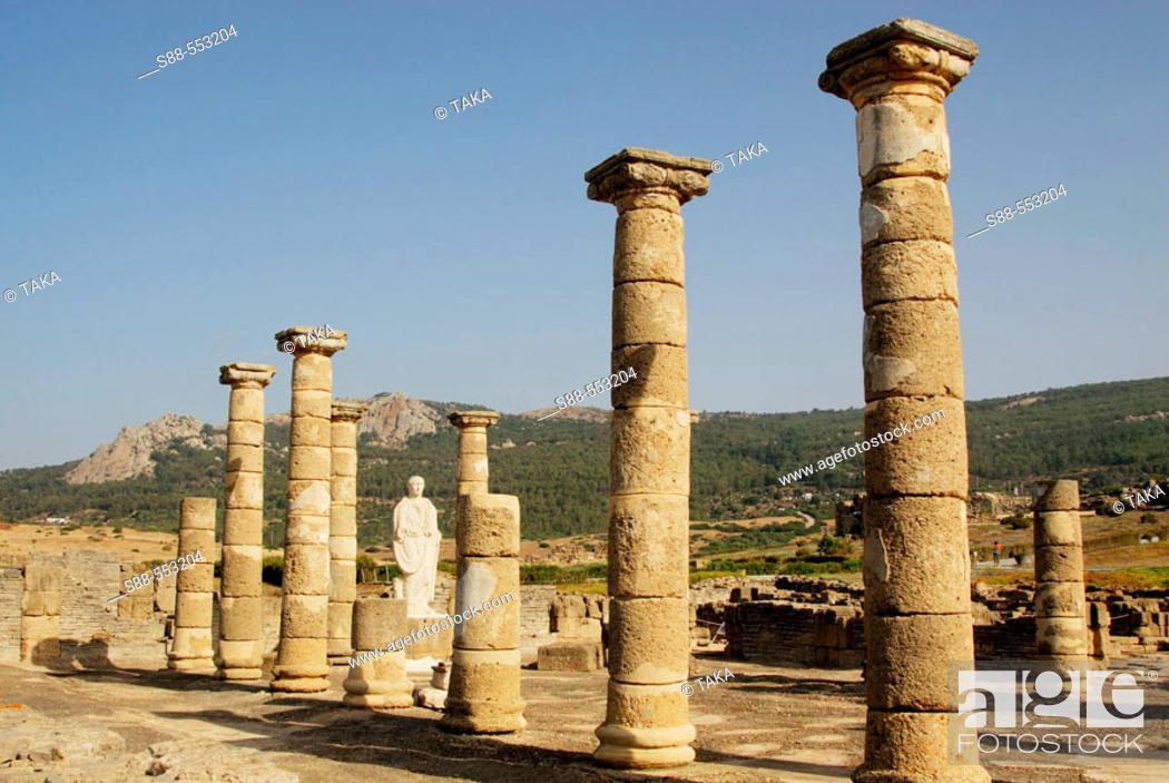Stock Photo: Ruins of old roman city of Baelo Claudia, Tarifa. Cadiz province, Andalusia, Spain.