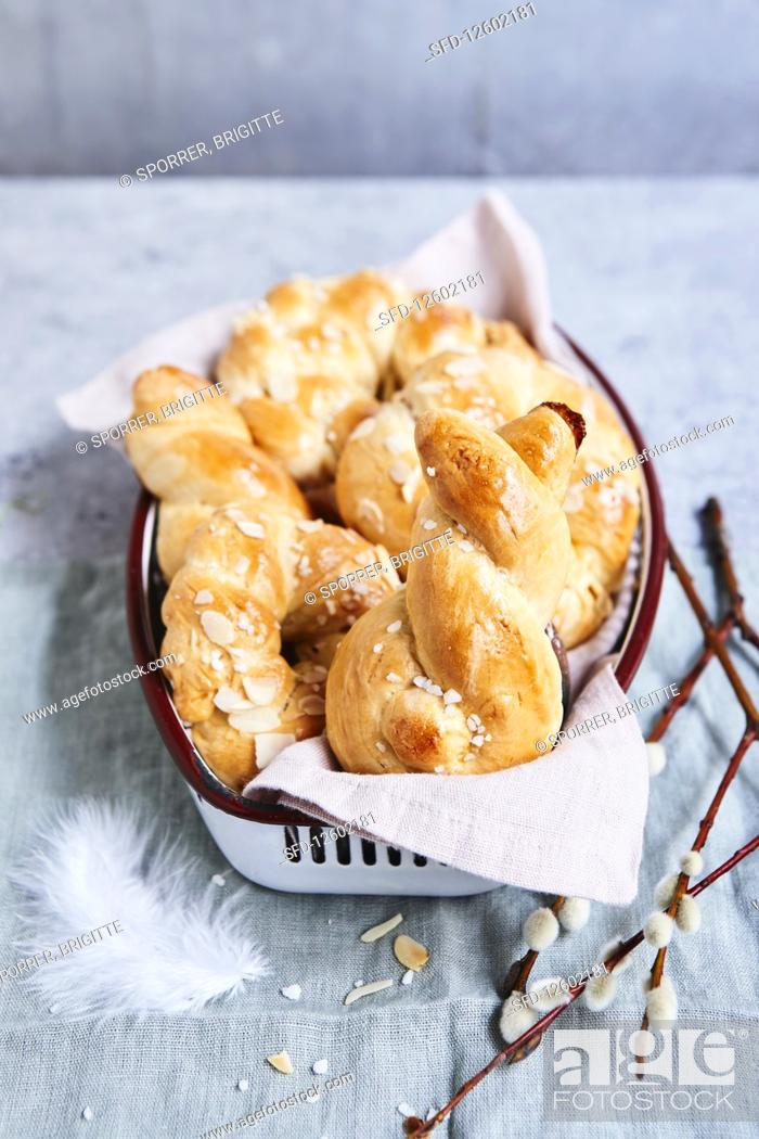 Stock Photo: Yeast biscuits for Easter.