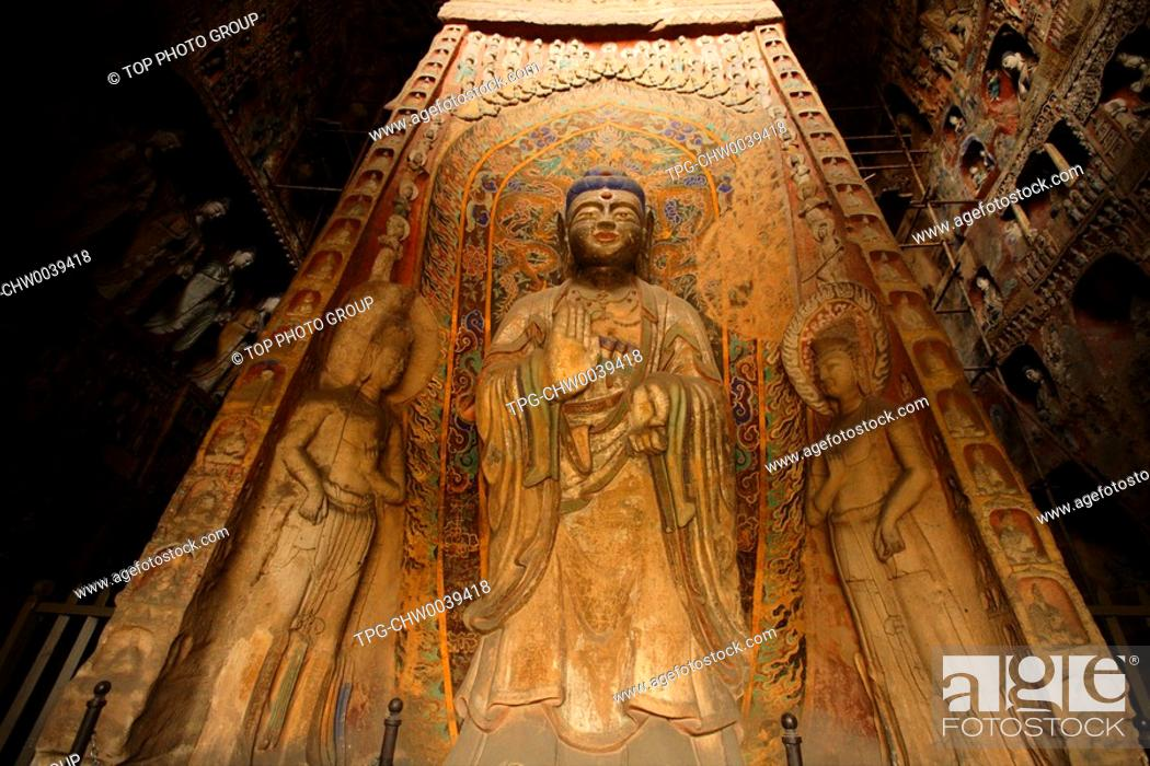 Stock Photo: Yungang Grottoes.