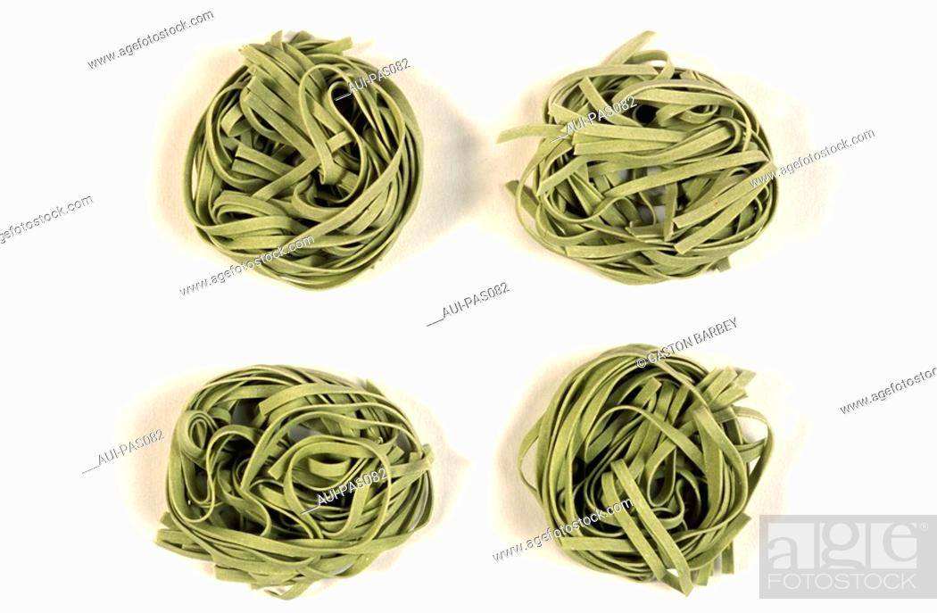 Stock Photo: Pasta - Spinach Pasta.
