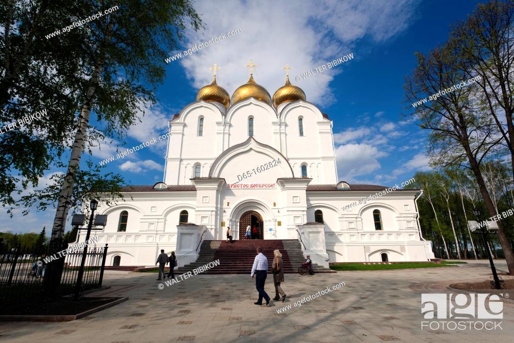 Stock Photo: Russia, Yaroslavl Oblast, Golden Ring, Yaroslavl, Uspenski Cathedral.