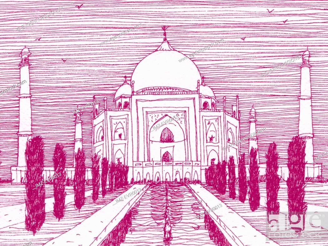 Stock Photo: Taj Mahal.