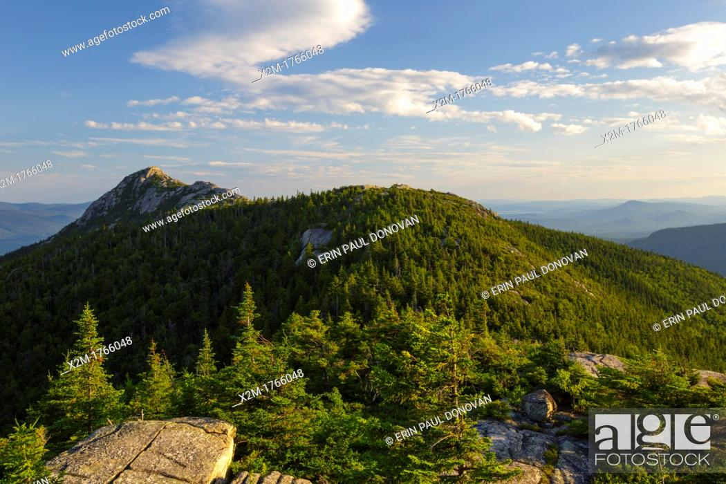 Stock Photo: Mount Chocorua from Middle Sister Mountain in Albany, New Hampshire USA during the summer months.