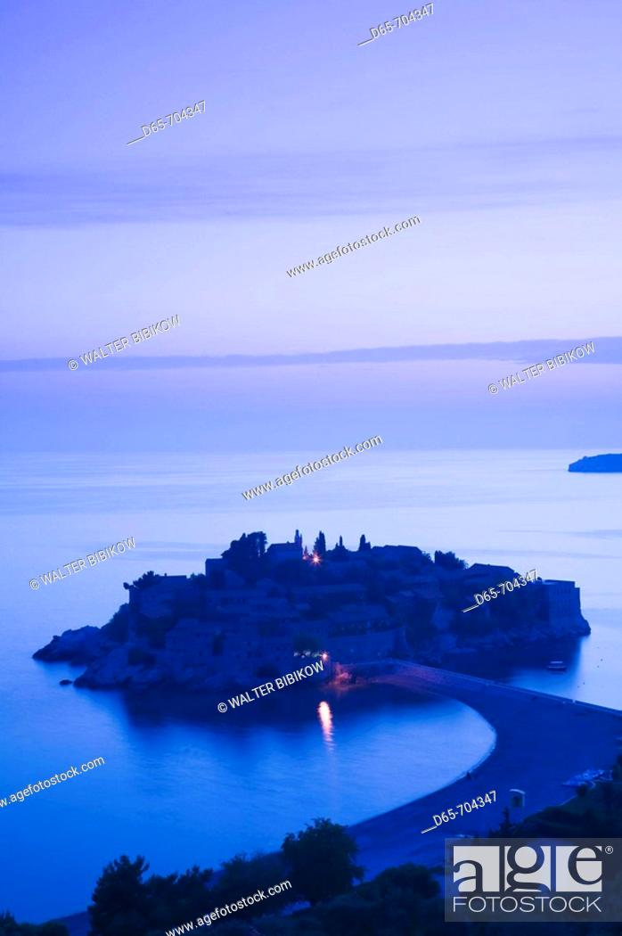 Stock Photo: Montenegro. Sveti Stefan.