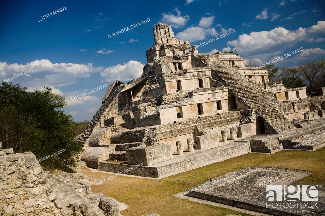 Stock Photo: Edzná Archaeological Site, Yucatan Peninsula, Mexico.