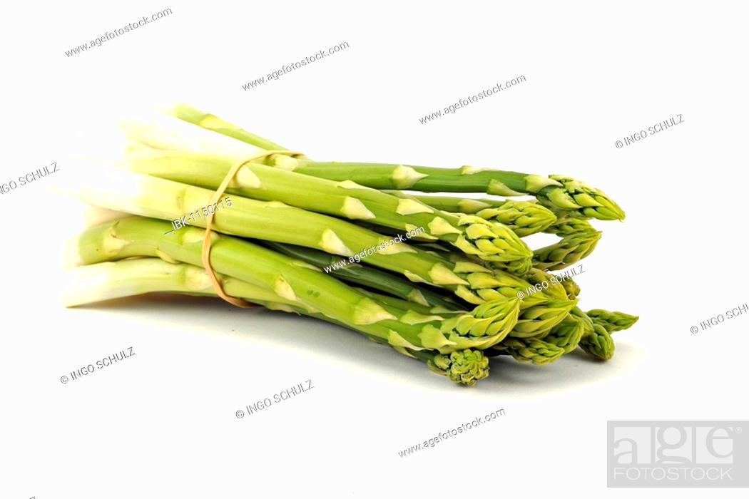 Stock Photo: Green asparagus (Aspagurus).