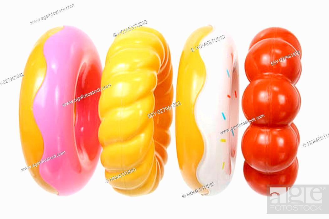 Stock Photo: Toy Doughnuts on White Background.