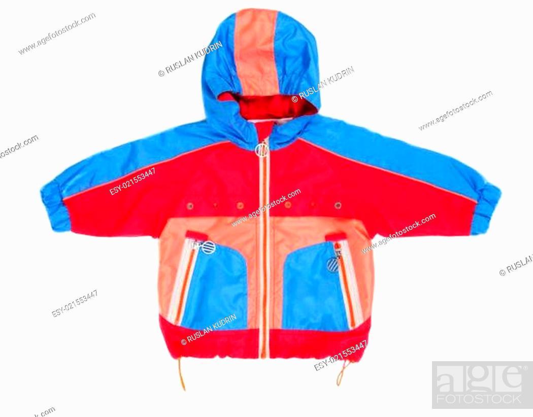 Stock Photo: Baby hooded jacket and pocket.