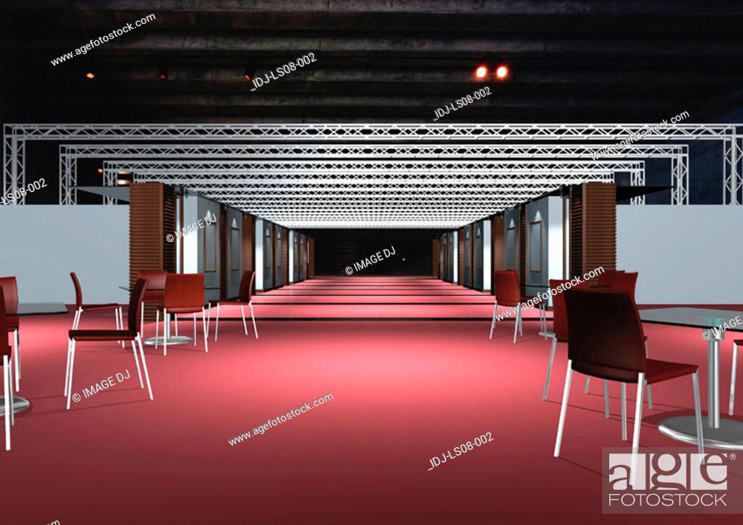 Stock Photo: Graphic representation of office interiors.