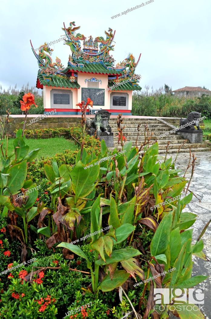 Stock Photo: Ishigaki, Okinawa, Japan: Chinese tomb in memory of 128 Chinese persons dead on the island.