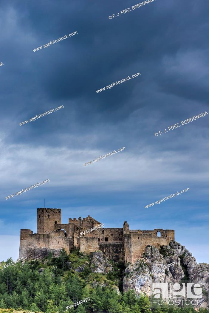 Stock Photo: Loarre mediaeval Castle, 11th century. Huesca, Aragon, Spain.