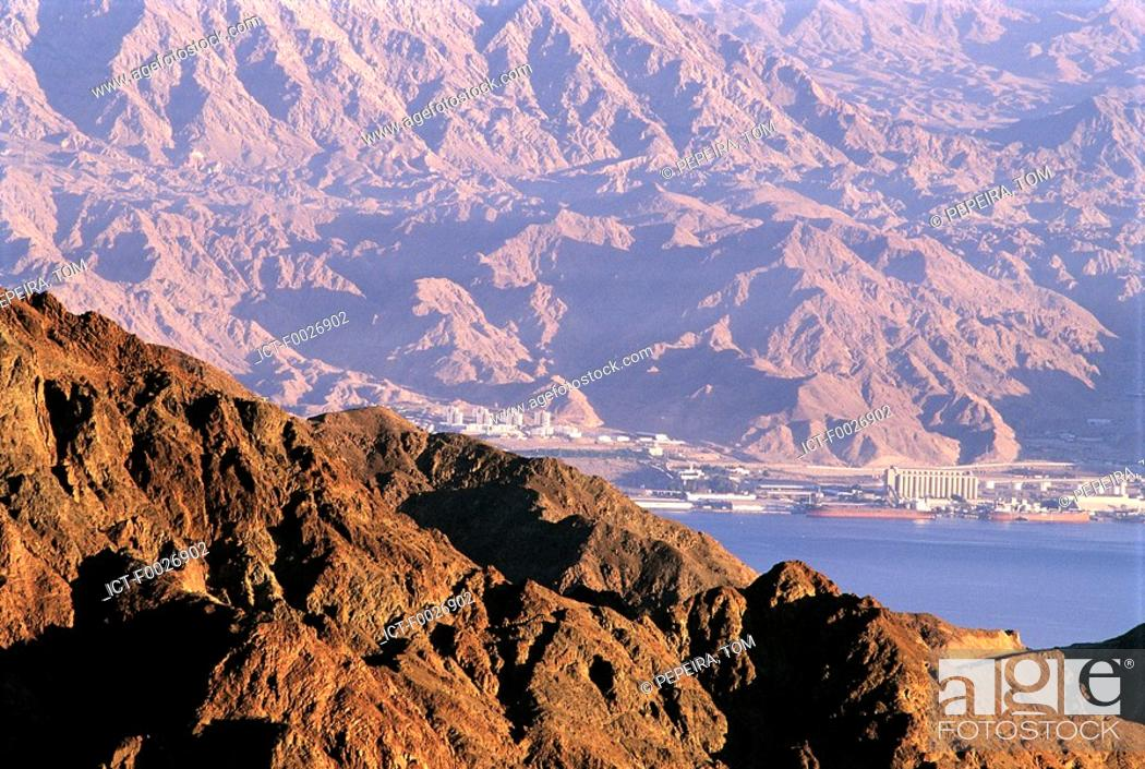 Stock Photo: Israel, Eilat, Red Sea and Negev desert.