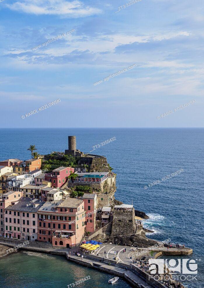 Stock Photo: Doria Castle in Vernazza, Cinque Terre, UNESCO World Heritage Site, Liguria, Italy.