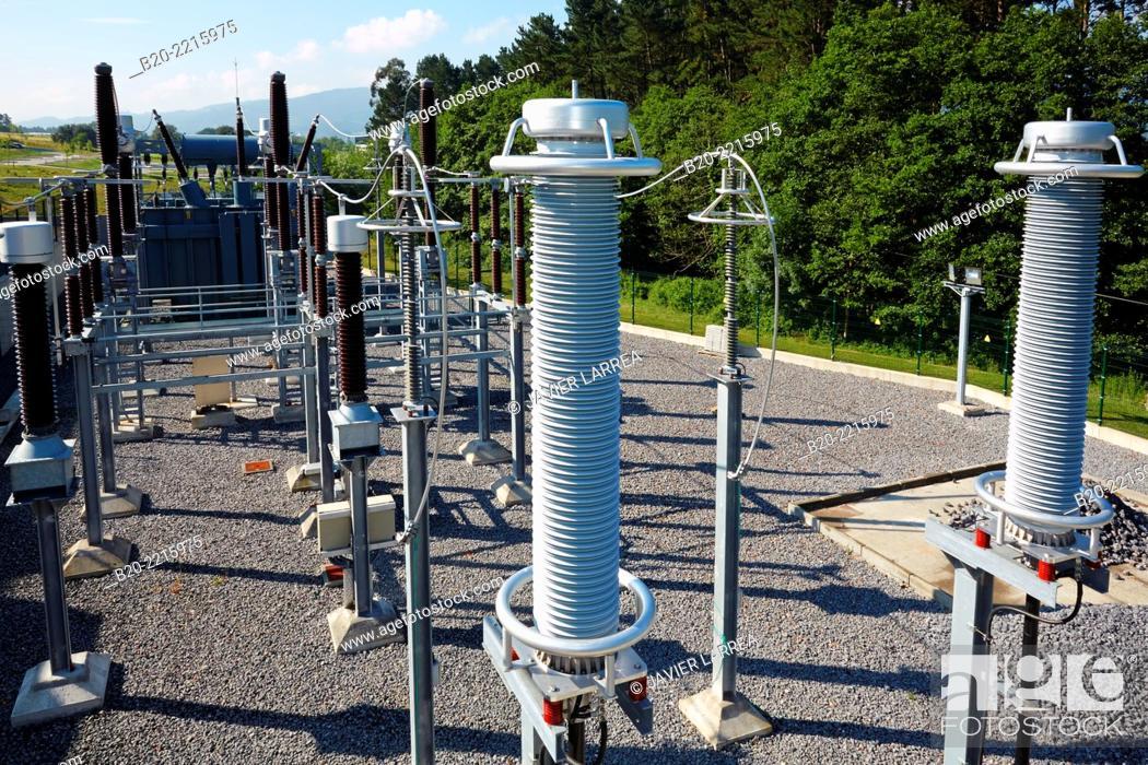 Stock Photo: Electrical substation. Tecnalia Research & Innovation. Science and Technology Park of Bizkaia. Zamudio. Bizkaia. Basque Country. Spain.