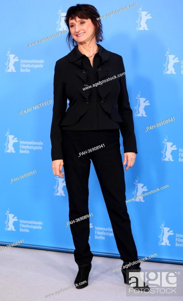 Stock Photo: Canadian actress Pierrette Robitaille poses at a photocall for the movie 'Vic+Flo Saw a Bear' ('Vic+Flo ont vu un ours') during the 63rd annual Berlin.
