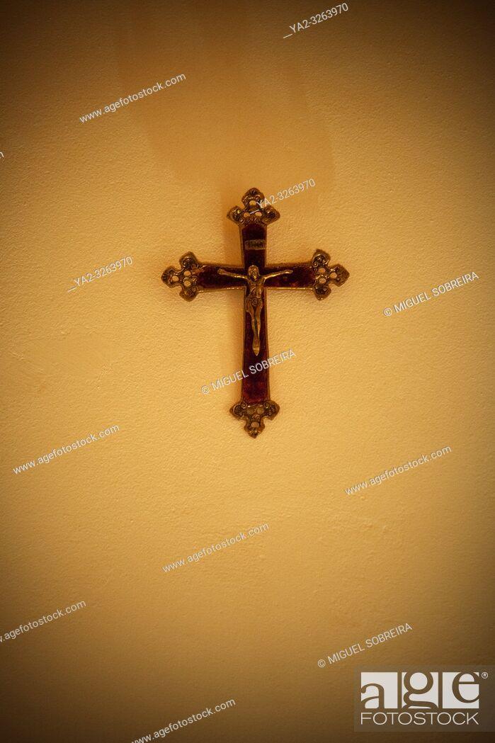 Stock Photo: Crucifix on Wall.