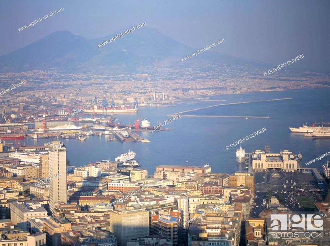 Stock Photo: View of Port Vesuvio, Naples, Campania, Italy, Mediterranean, Europe.