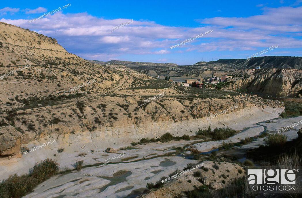Stock Photo: Mula river, Baños de Mula. Murcia, Spain.