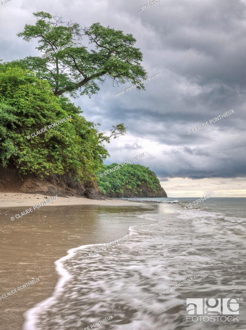 Stock Photo: Coastline, Guanacaste,Costa-Rica.