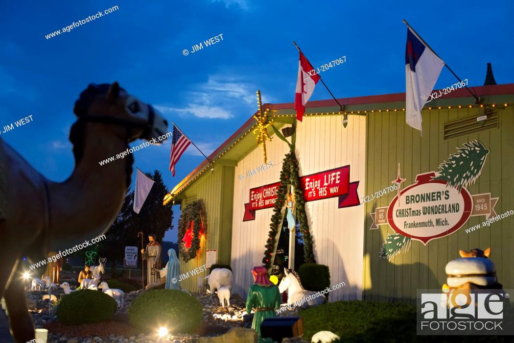 stock photo frankenmuth michigan bronners christmas wonderland the worlds largest christmas store - Largest Christmas Store