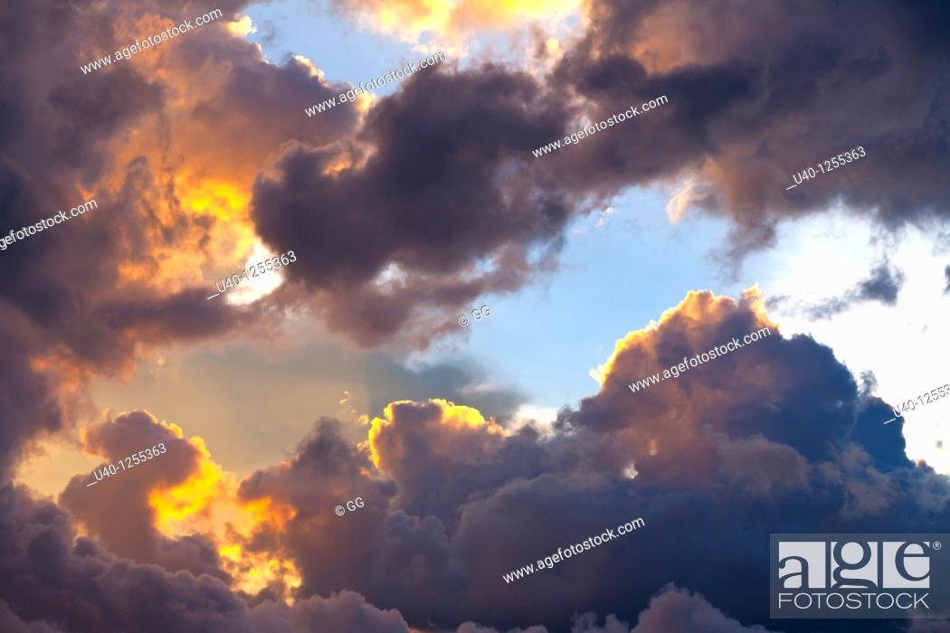 Stock Photo: Clouds ar sunset.