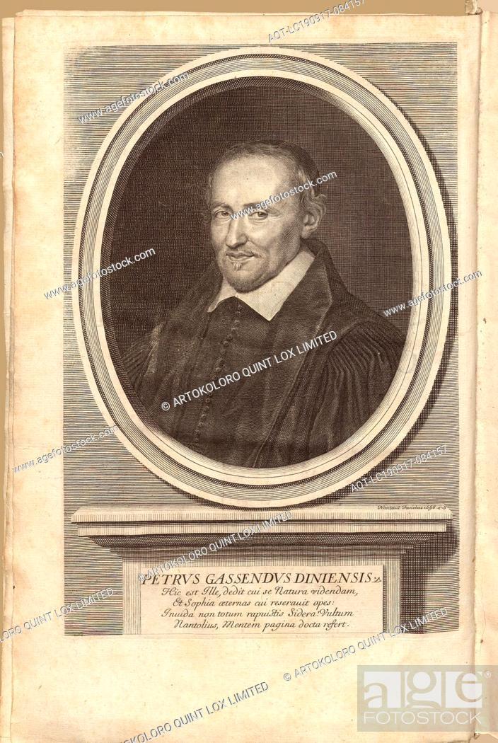 Imagen: Petrus Gassendus Diniensis, Portrait of the theologian and naturalist Pierre Gassendi (1592-1655), signed: Nanteuil Faciebat, frontispiece, Nanteuil.