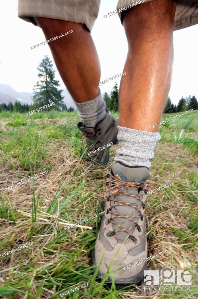 Stock Photo: man, legs, mountain.