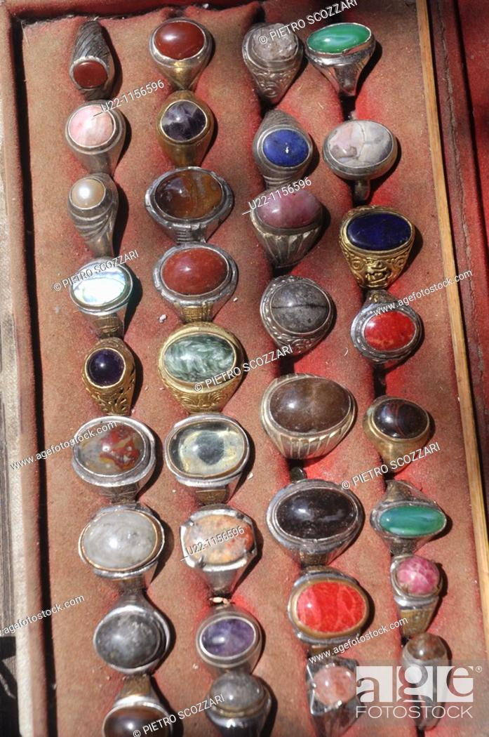 Ubud (Bali, Indonesia): typical Indonesian rings for men, sold at