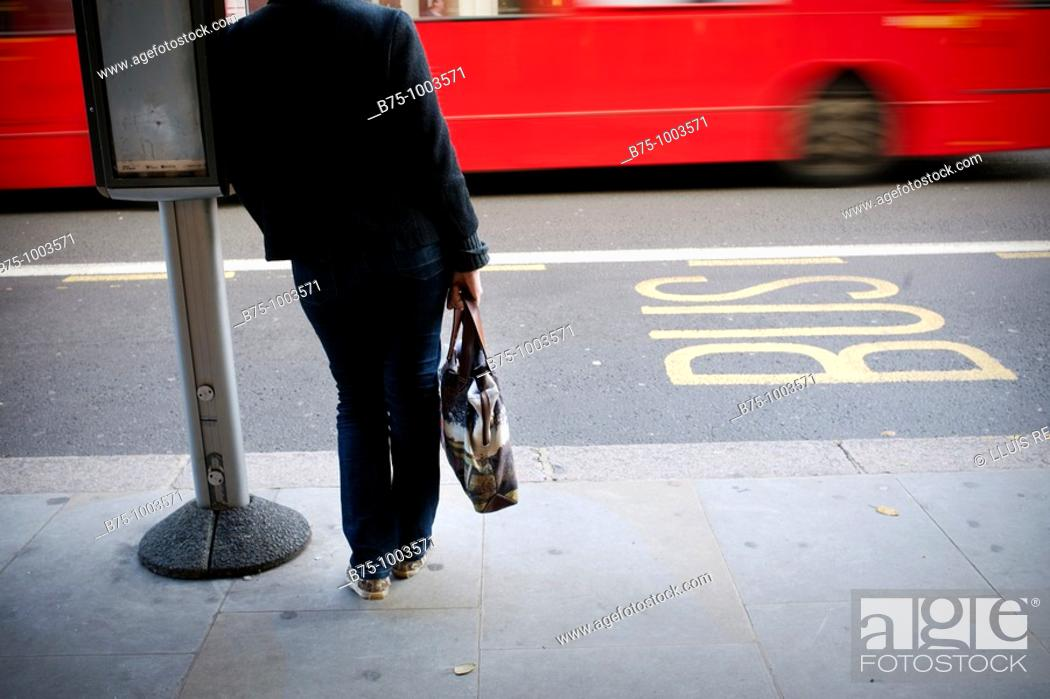 Stock Photo: Bus lane.