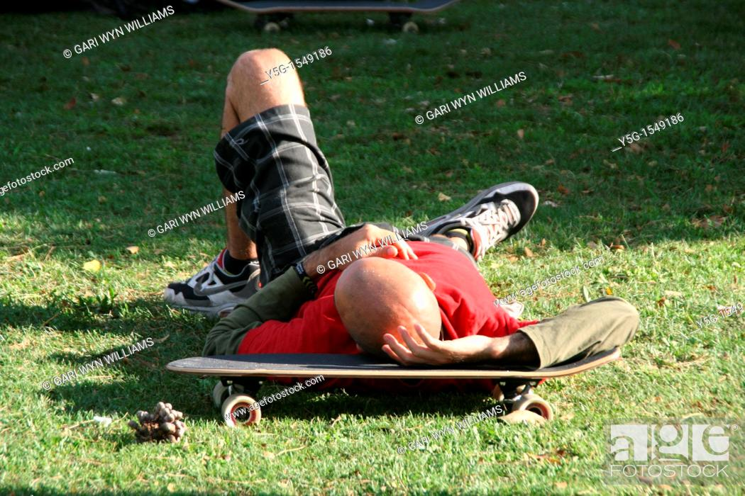Stock Photo: skateboard competition in rome.