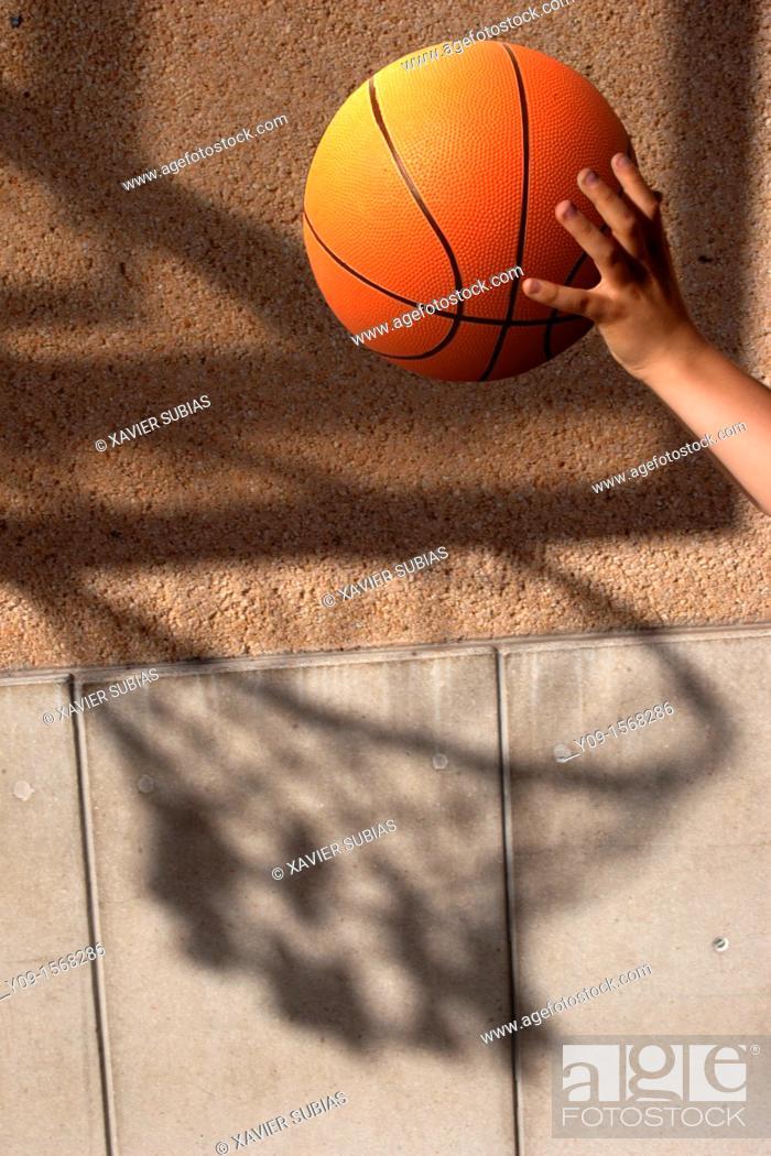 Stock Photo: Basketball.