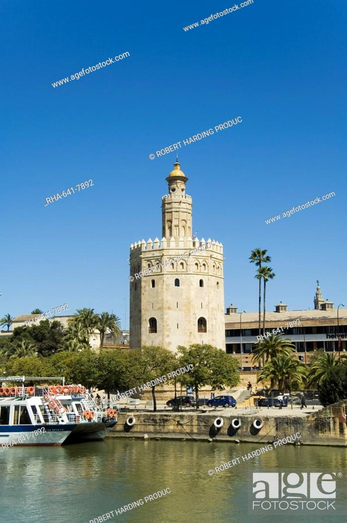 Stock Photo: Torre del Oro, El Arenal district, Seville, Andalusia Andalucia, Spain, Europe.