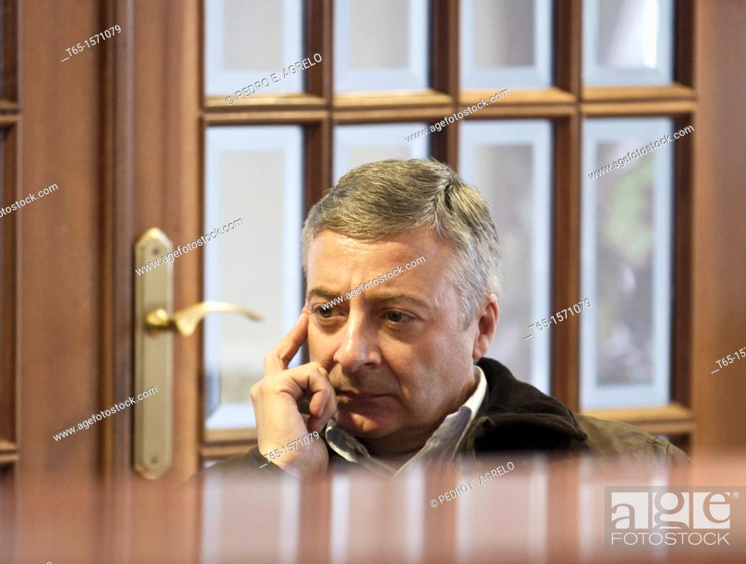 Imagen: Jose Blanco, Spanish Socialist politician, in Lugo, during a meeting with fellow Party members in the Hostal Rivera Lugo in Becerrea. November 9, 2011.