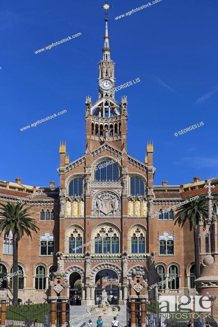 Imagen: San Pau Recinto Modernista Hospital de la Santa Creu i Sant Pau in Barcelona. Lluis Domenech i Montaner architect.