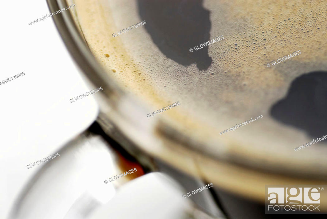 Stock Photo: Close-up of a cup of black coffee.