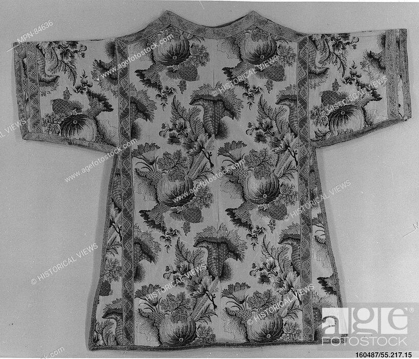 Stock Photo: Dalmatic. Date: ca. 1735; Culture: Italian or Czech; Medium: Silk and metal thread; Dimensions: L. 40 1/2 x W. 46 inches (102.9 x 116.