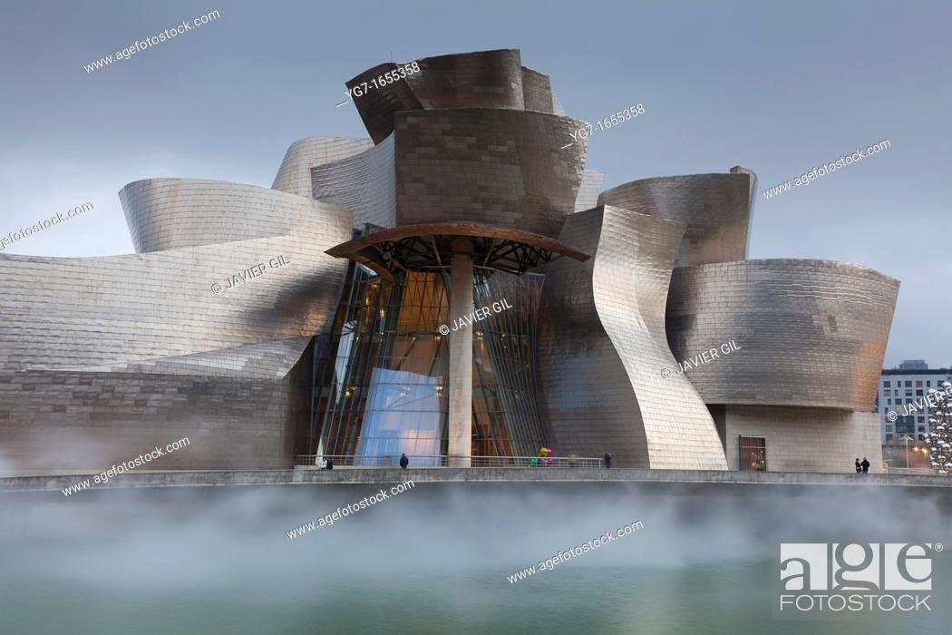 Stock Photo: Guggenheim museum, Bilbao, Bizkaia, Spain.