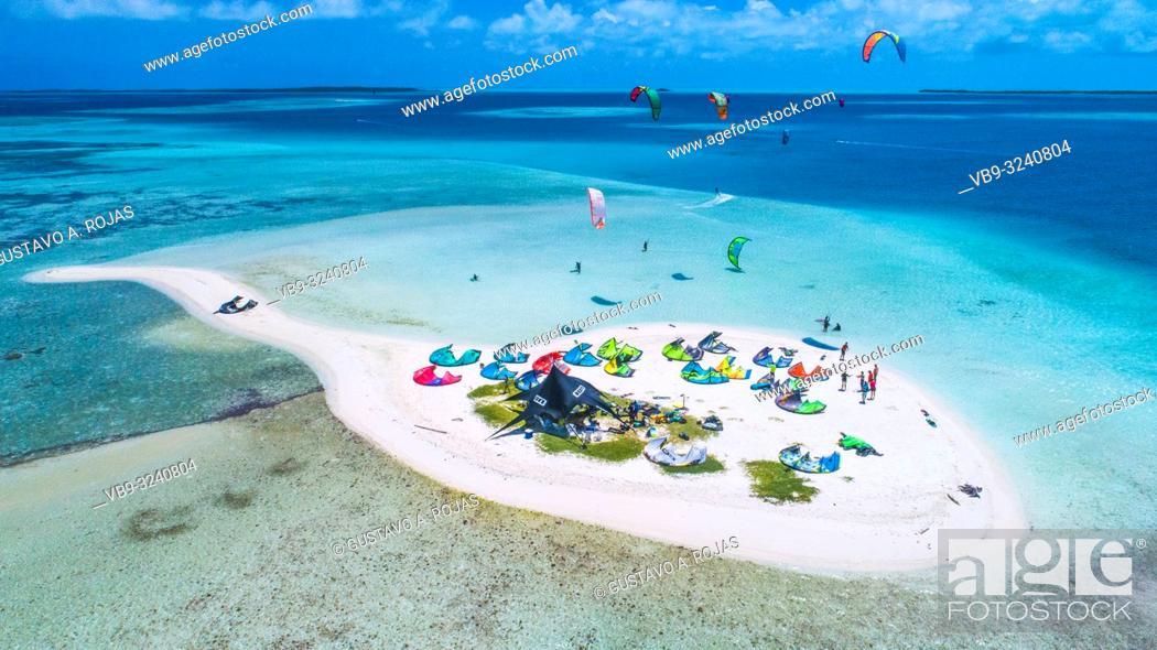 Stock Photo: Aeria View Cayo sardina Los roques venezuela. Caribbean Atoll.