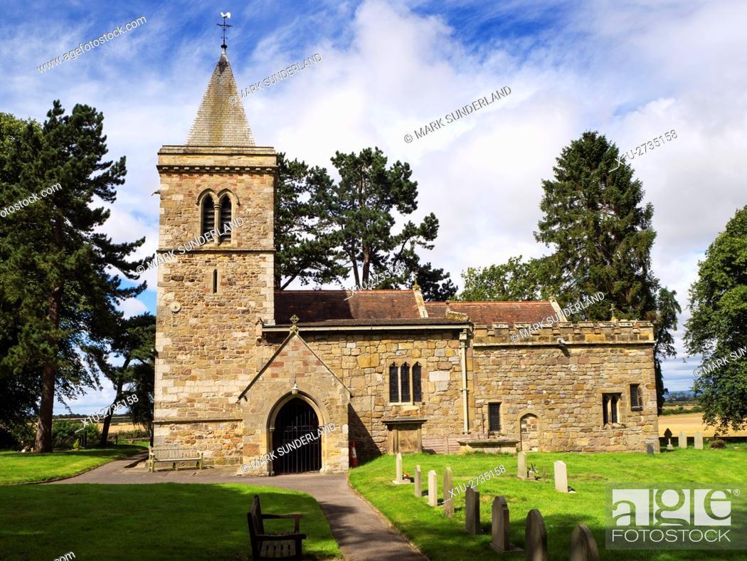 Stock Photo: All Saints Church at Kirkby Hill near Boroughbridge North Yorkshire England.