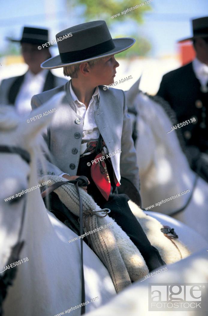 Stock Photo: Feria del Caballo, Jerez de la Frontera, Andalucia, Spain.