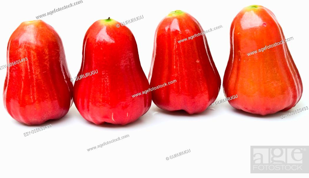 Stock Photo: Rose apples, Syzygium jambos.