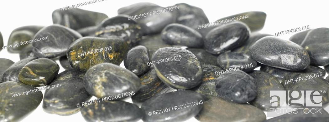 Stock Photo: Black Stones.