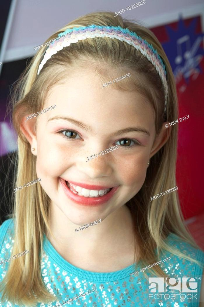 Stock Photo: Smiling Young Girl close-up.