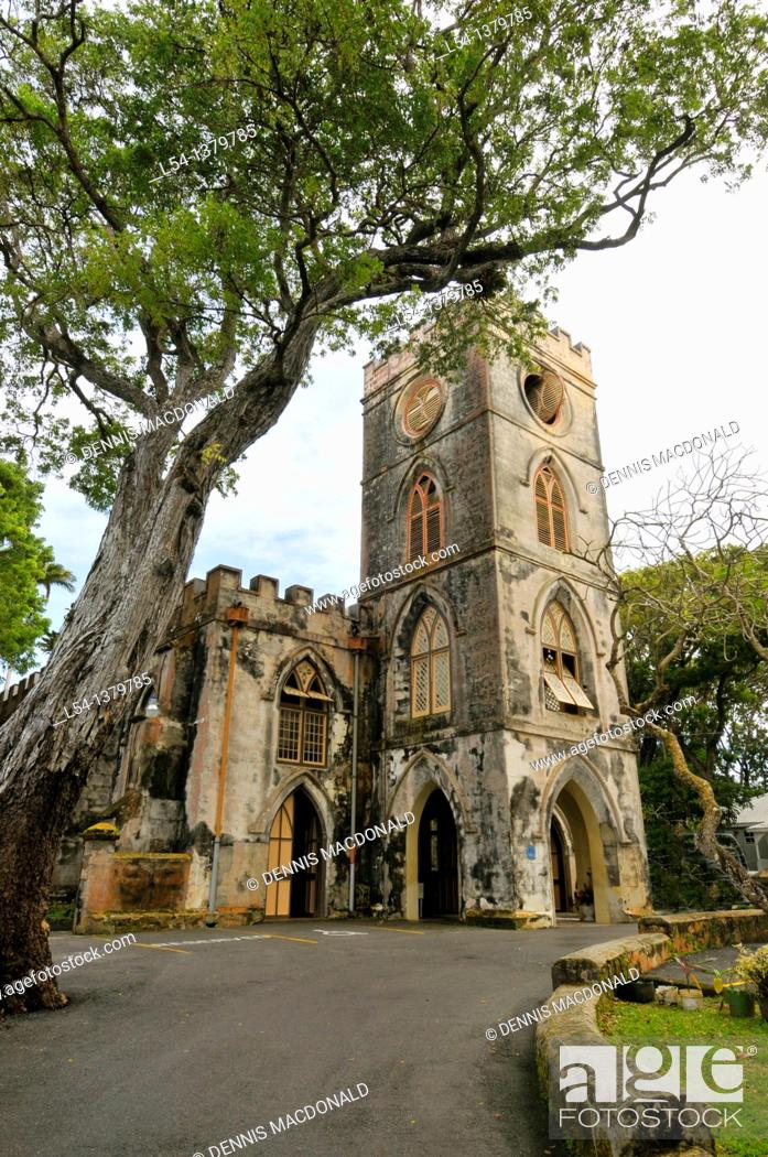 Stock Photo: St  John's Parish Church Bridgetown Barbados Caribbean Cruise NCL.