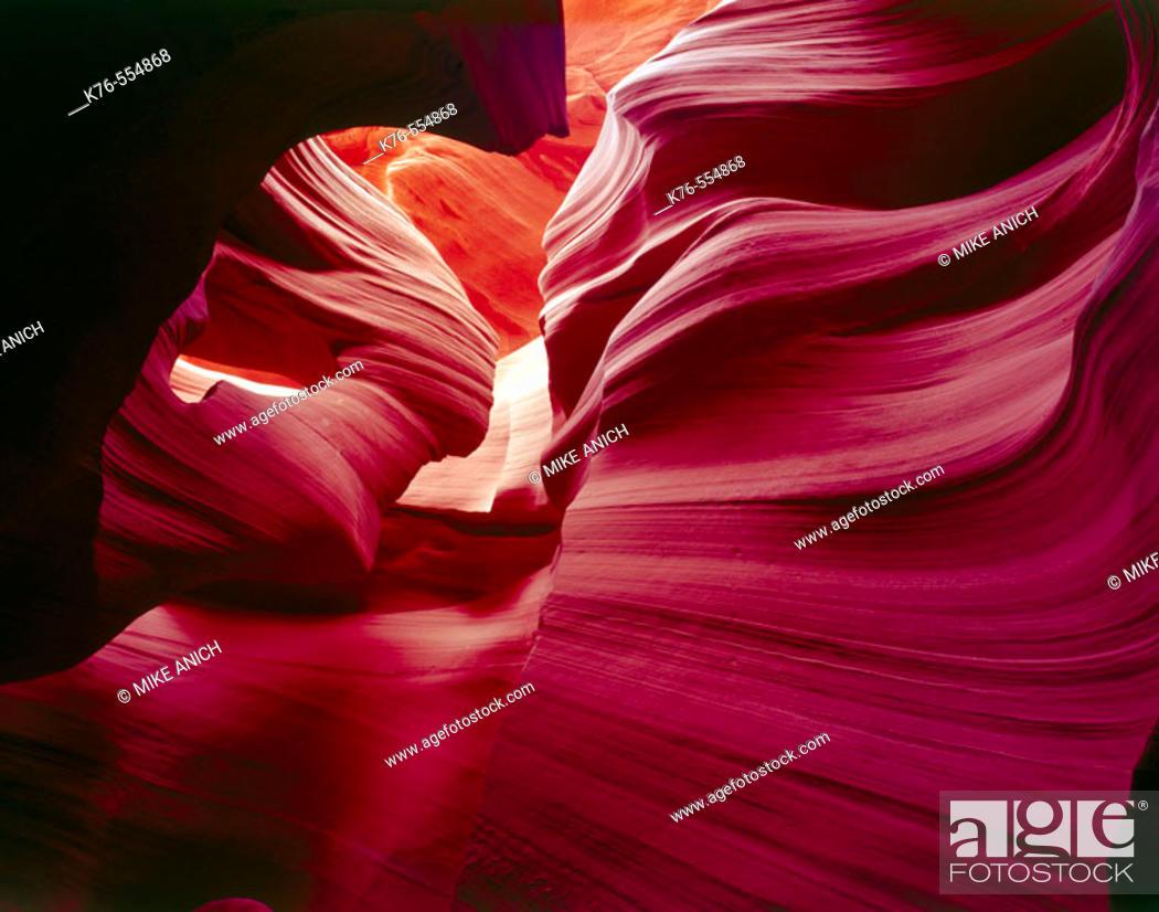 Stock Photo: Lower Antelope Slot Canyon Page. Arizona. USA.
