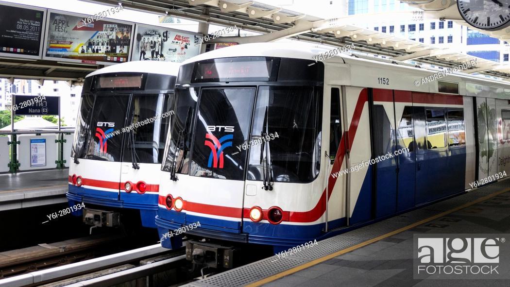 Stock Photo: Skytrain Nana Station Bangkok Thailand.