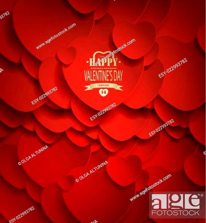 Stock Vector: Valentine's Day Background.