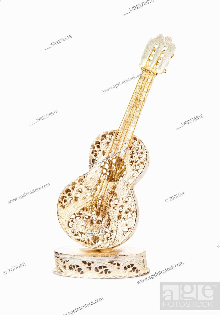 Stock Photo: Toy classical acoustic guitar.