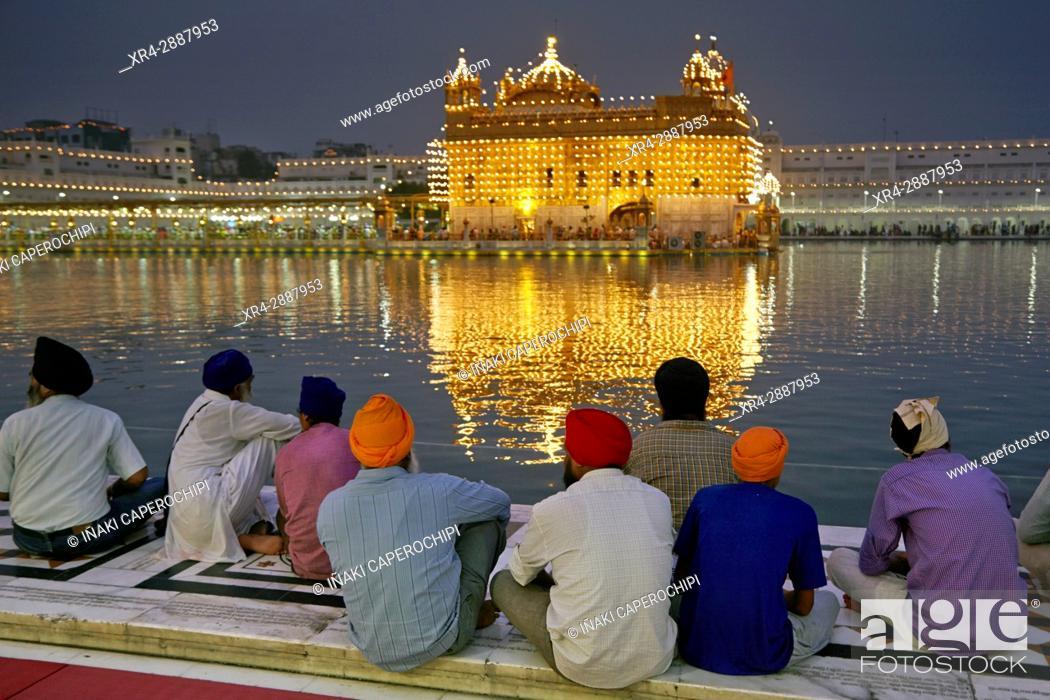 Stock Photo: Harmandir Sahib, Golden Temple, Amritsar, Punyab, India.