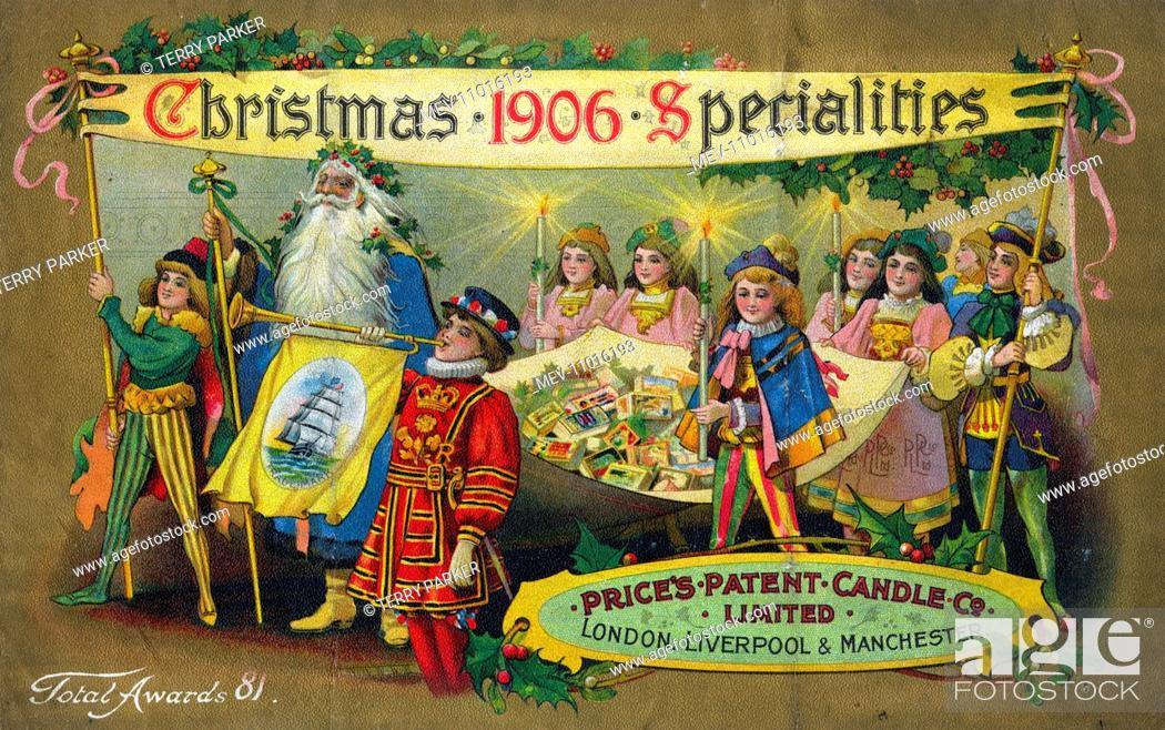 Stock Photo: Price's Candles, Christmas Specialities.